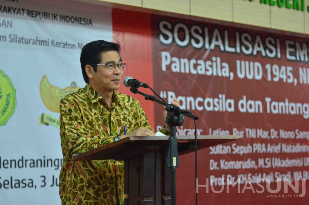 (Bahasa) UNJ, MPR RI dan FSKN Gelar Sosialisasi 4 Pilar