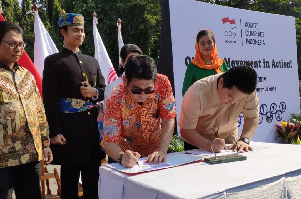 UNJ  Signed an MoU with Indonesian Olympic Committee (KOI)