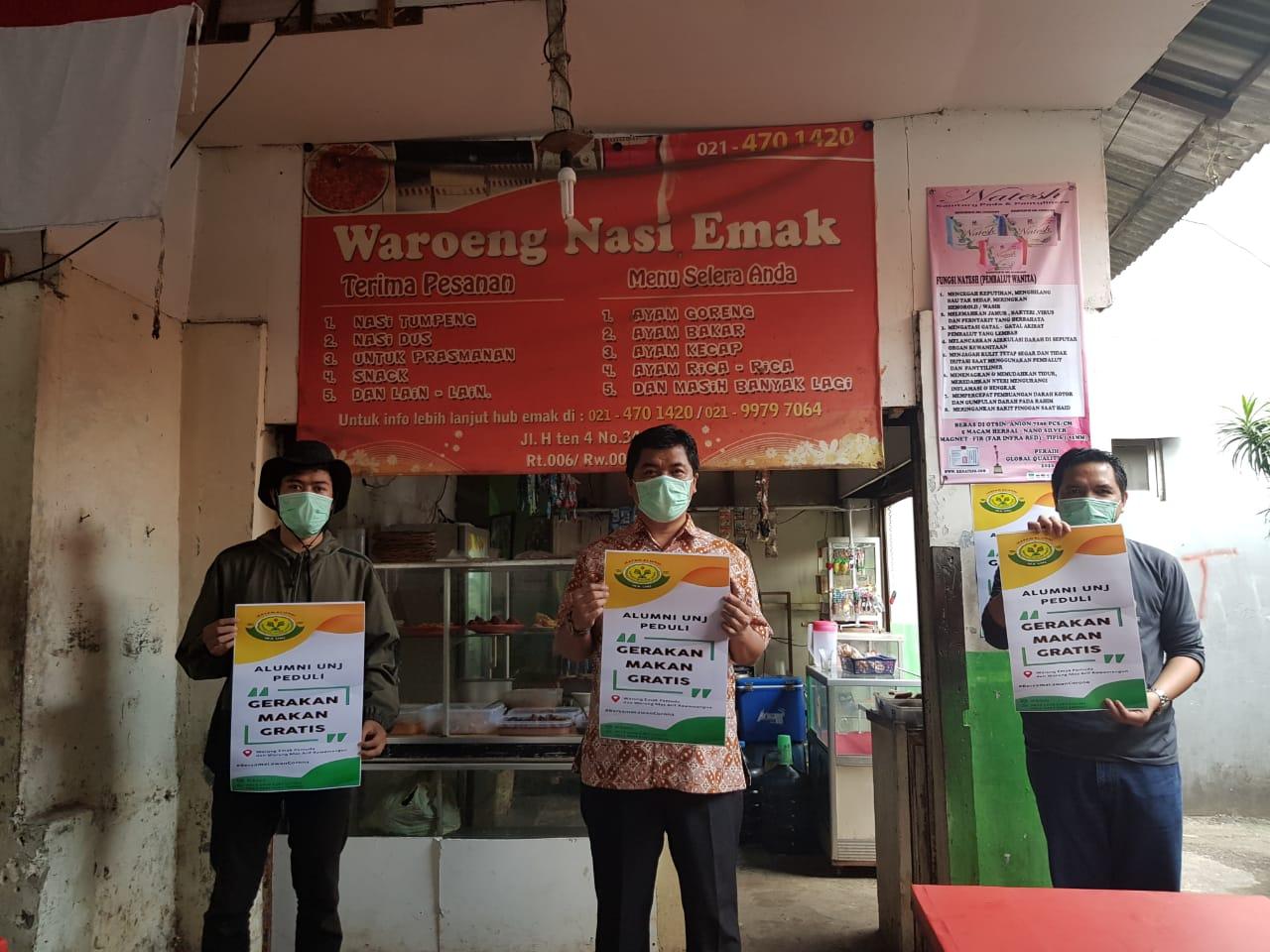IKA UNJ Sediakan Makan Gratis bagi Mahasiswa UNJ di Masa Pandemi Covid-19
