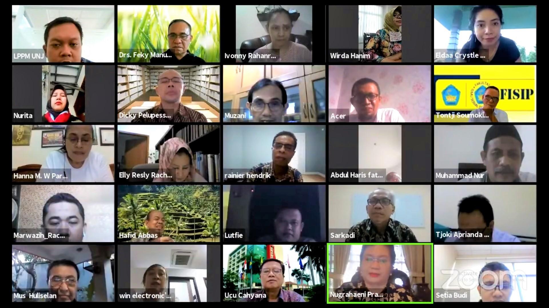 Webinar Nasional LPPM UNJ : Peranan Kampus dalam Misi Kemanusiaan di Masa Pandemi Covid-19