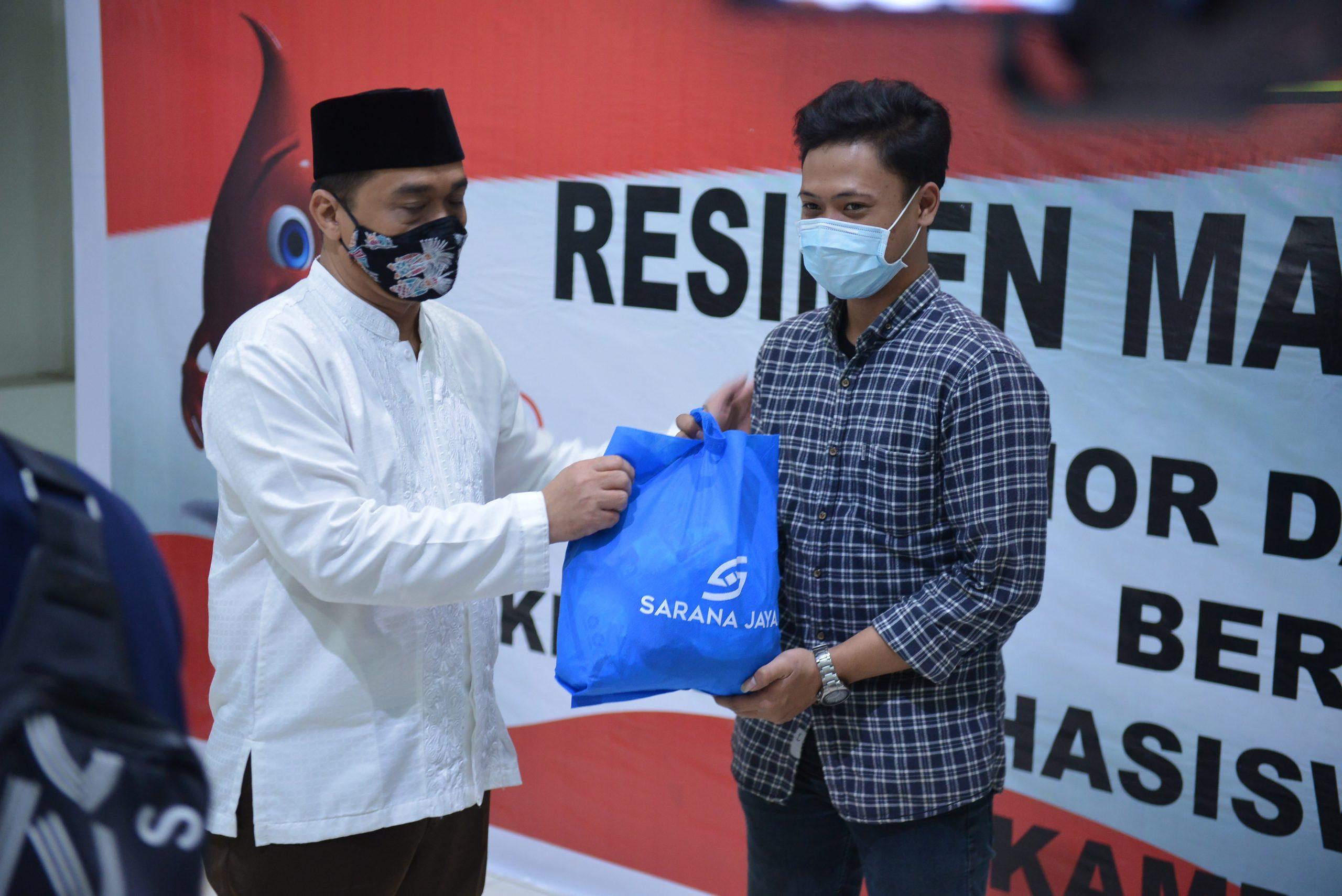 RESIMEN MAHASISWA INDONESIA BERBAGI : DONOR DARAH DAN PENYERAHAN BANTUAN SOSIAL BAGI MAHASISWA DAN MASYARAKAT SEKITAR UNJ