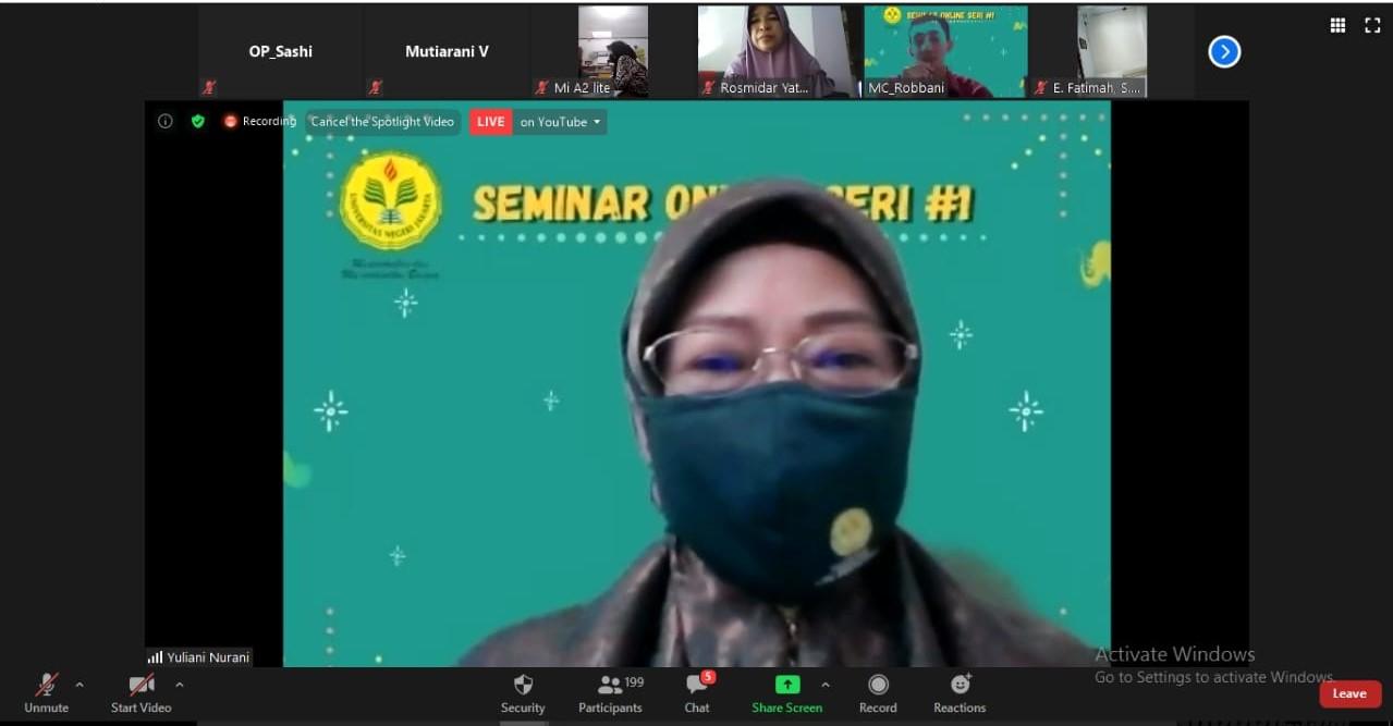 Seminar Online PG PAUD UNJ : Peningkatan Kompetensi Pendidikan PAUD di Masa Pandemi Covid-19