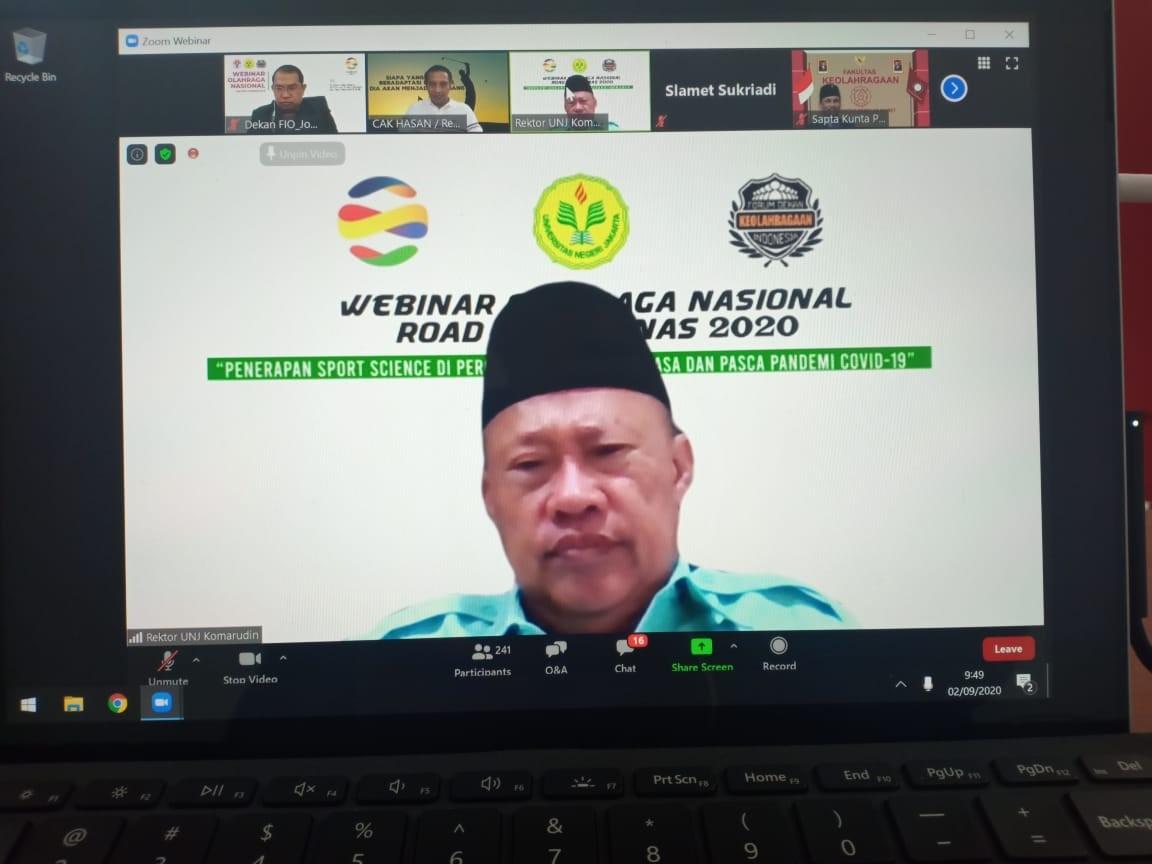 Universitas Negeri Jakarta inisiasi Webinar Olahraga Nasional