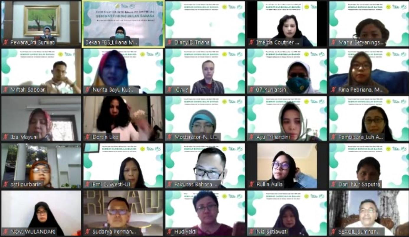 Seminar Bulan Bahasa : Pengajaran Bahasa dan Seni Budaya Indonesia di Lima Benua