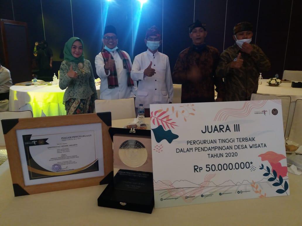 UNJ Raih Peringkat ke-3 Dalam Pelatihan dan Pendampingan Desa Wisata Terbaik se-Indonesia