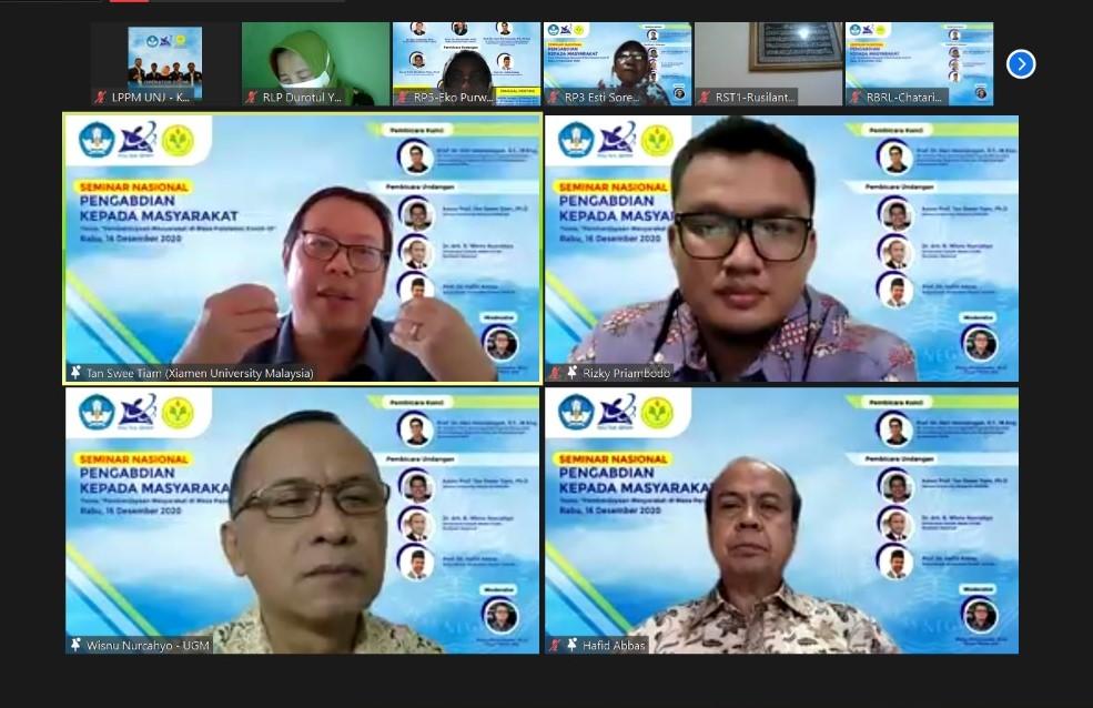 Seminar Nasional Pengabdian Kepada Masyarakat : Pemberdayaan Masyarakat di Masa Pandemik Covid-19
