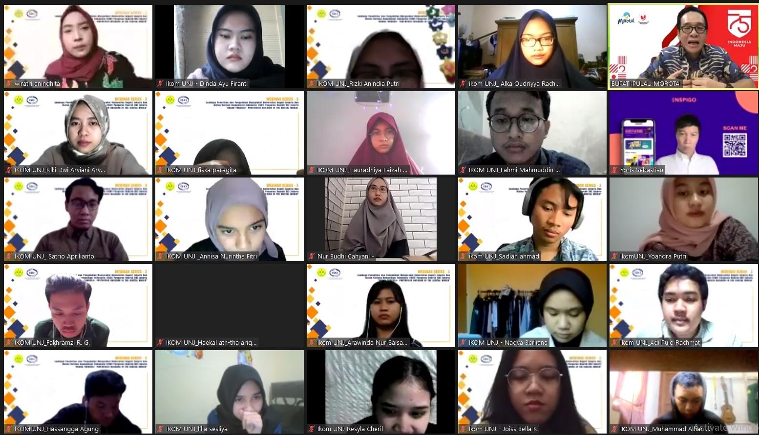 Webinar Series 3 LPPM UNJ dan ISKI DKI Jakarta : Pentingnya Personal Branding Bagi Generasi Milenial di Era Digital