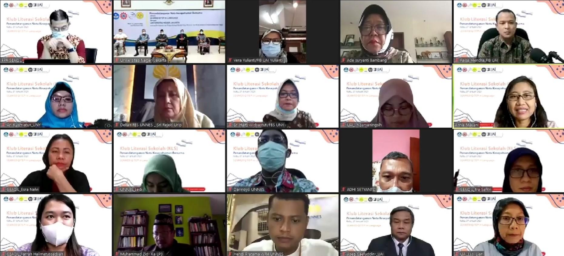 Kerjasama UNJ dan SEAMEO QITEP in Language : Pengembangan dan Peningkatan Sumber Daya Manusia dalam Pendidikan