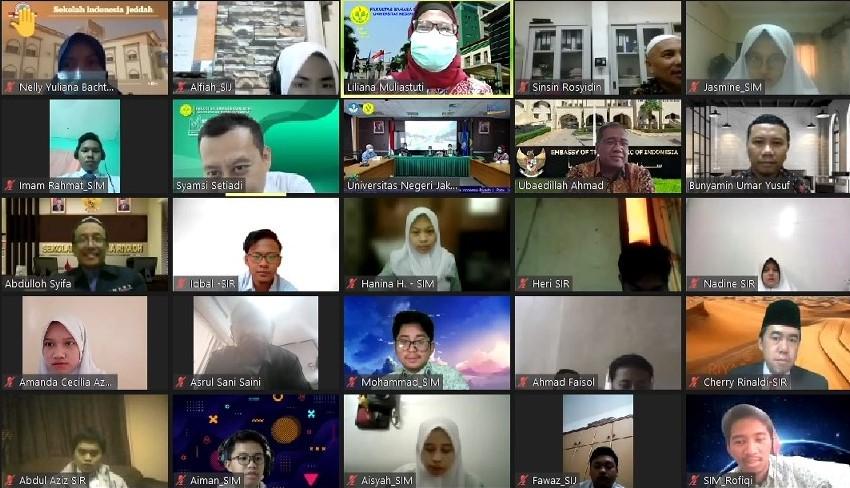 Webinar Peluang Studi di Perguruan Tinggi Nasional, UNJ bersama Sekolah Indonesia di Arab Saudi