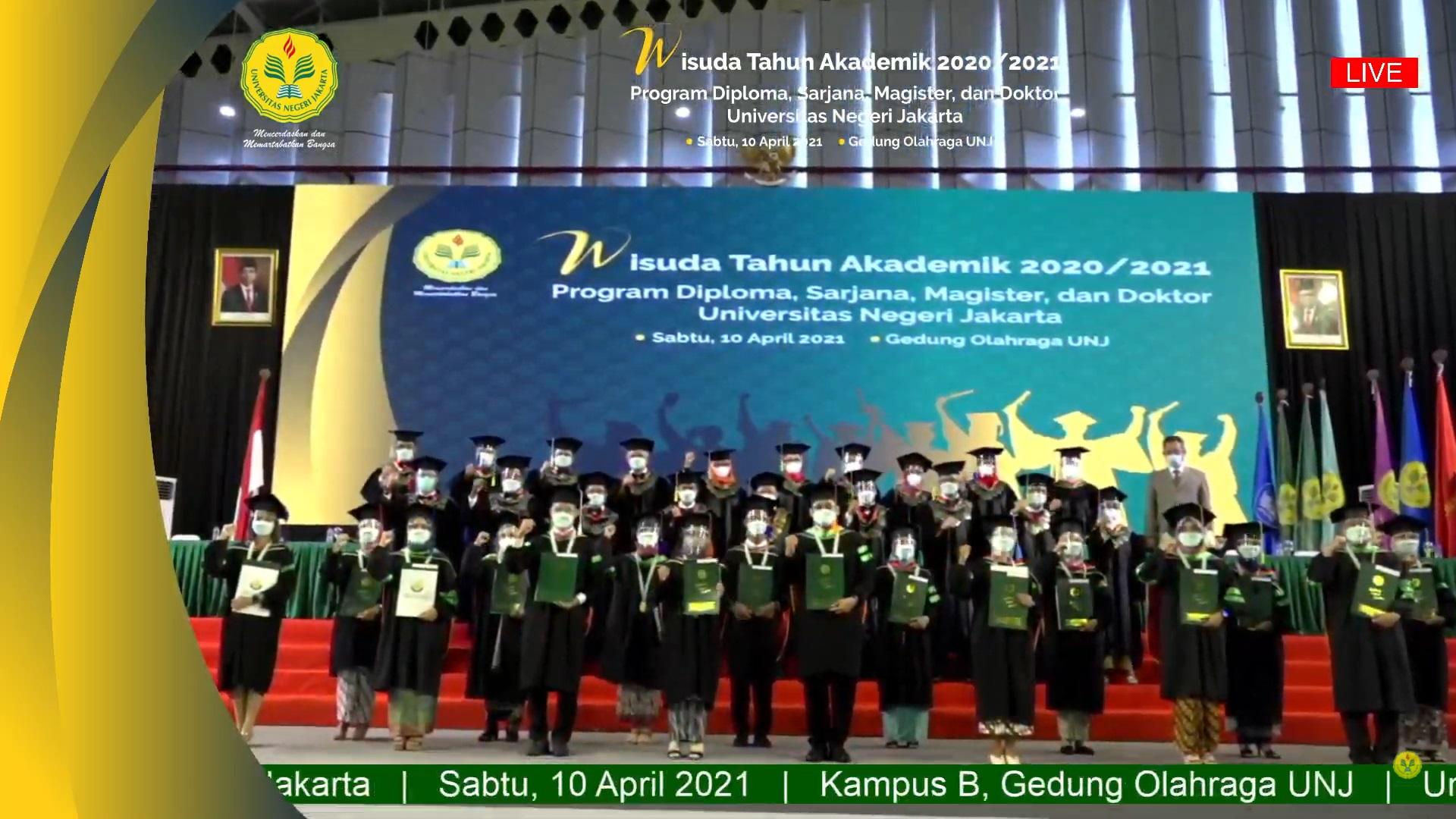 Wisuda Virtual Semester 113 Universitas Negeri Jakarta (UNJ) Tahun Akademik 2020/2021