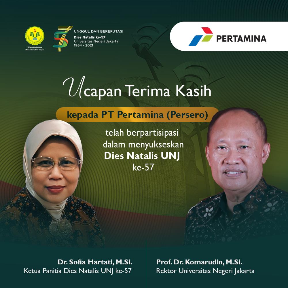 (Bahasa) Terima Kasih PT Pertamina (Persero), Bersama Mencerdaskan dan Mertabatkan Bangsa