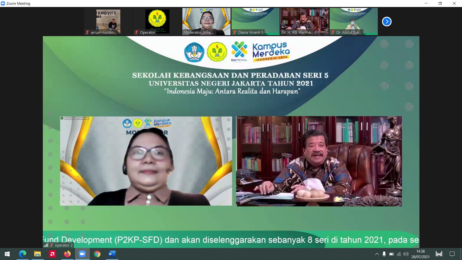 """(Bahasa) SEKOLAH KEBANGSAAN DAN PERADABAN seri ke-5, """"Indonesia Maju: Antara Realita dan Harapan"""""""