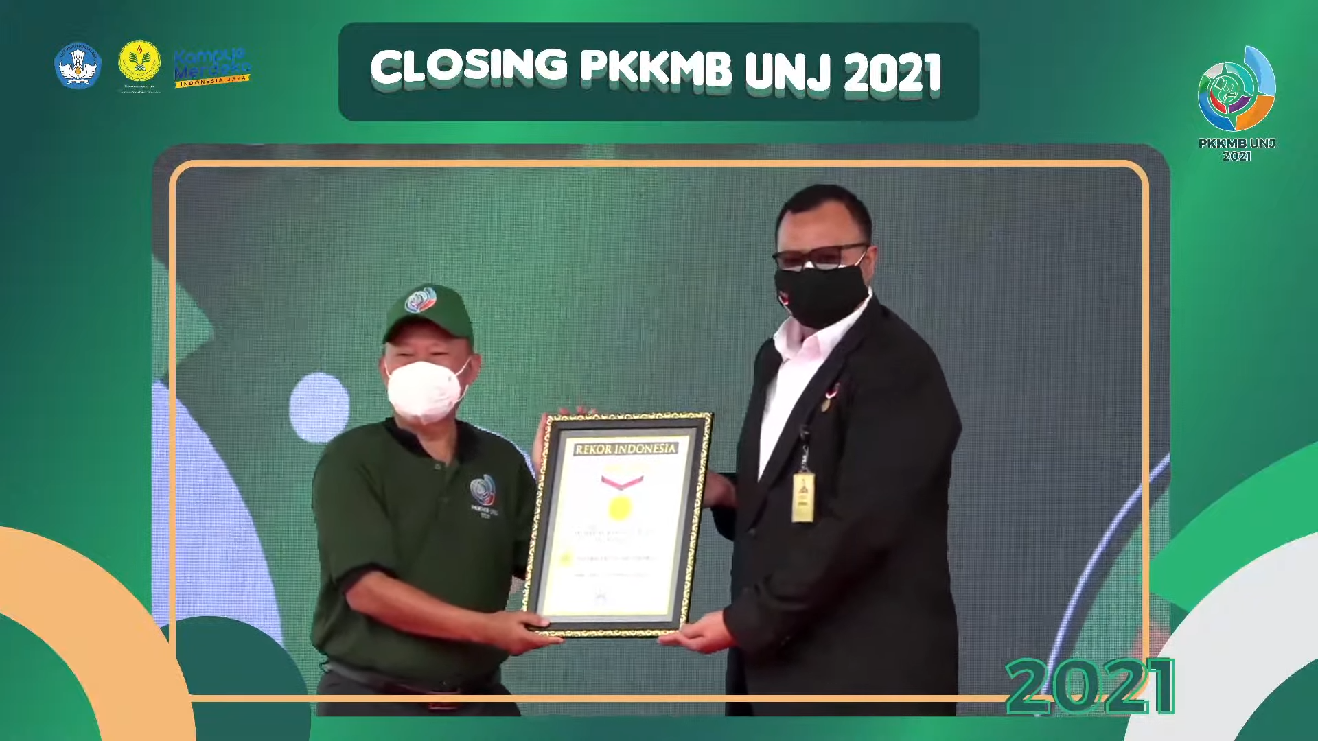 PKKMB 2021 Selesai, UNJ Kembali Meraih Rekor MURI Senam SENSI Virtual Terbanyak di Indonesia