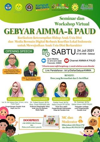 Seminar dan Workshop Virtual Gebyar AIMMA-K PAUD