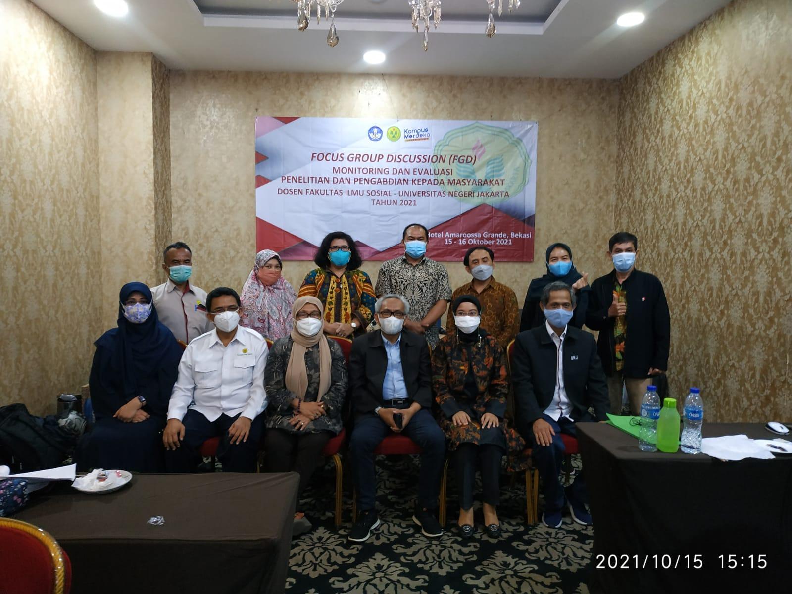 Monitoring dan Evaluasi Penelitian dan Pengabdian Kepada Masyarakat Fakultas Ilmu Sosial UNJ